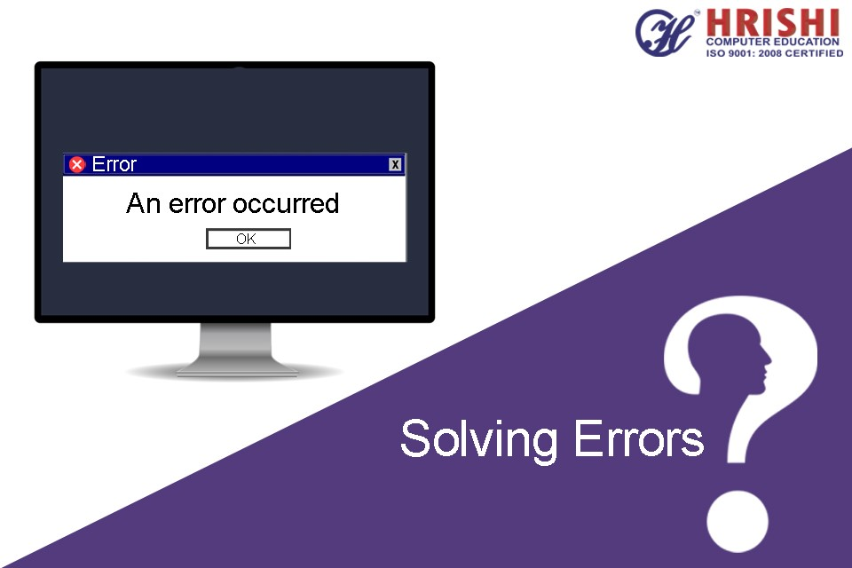 Error or problem solving is a skill